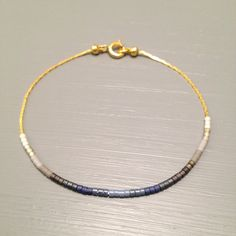 Gold chain bracelet bead gold simple bracelet gold chain jewelry This listing is for one beaded gold plated Bracelet. Bracelet is made of a Miyuki