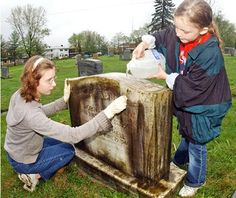 Headstone, Tombstone and Grave monuments: Headstone Cleaning and Maintenance