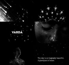 """Manwe & Varda 2/2: """"And if Manwë is with her, Varda hears more clearly than all other ears the sound of voices that cry from east to west, from the hills and the valleys, and from the dark places that Melkor has made upon Earth."""""""