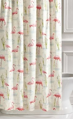 A flock of pink flamingos will brighten any bathroom. Our Pink Flamingo Shower Curtain adds instant cheer.