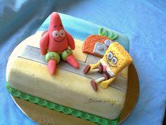 SpongeBob SquarePants Cake http://dinavilaga.blogspot.hu/2013/07/spongyabob-es-patrik.html