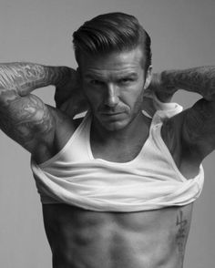 Hello David Beckham, please take that shirt off the whole way!!