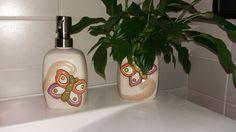 Set bagno con farfalla