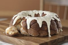 Cinnamon sugar-crusted biscuit bites with a drizzle of cream cheese frosting…did that get your attention?  Our Cinnamon Pull-Apart Bread is a quick take on a bakery fave, perfect for brunch or a coffee break.