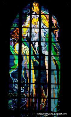 Kraków, Poland Church of St. Francis of Assisi, age stained glass window Stanisław Wyspiański - God of the Gods - the Light of the World designer: Stanisław Wyspiański taken on 24 June 2017 Francis Of Assisi, St Francis, Church Interior, Light Of The World, Innsbruck, Krakow, Stained Glass Windows, Poland, Architecture
