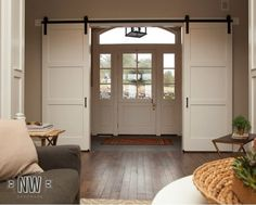 barn doors replace french doors - Google Search