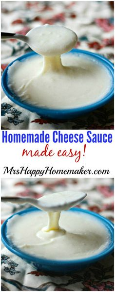 Making your own homemade cheese sauce will never intimidate you ever again! My recipe only has 4 ingredients & the process couldn't be simpler to make!
