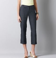 Love cropped pants for work in the spring/summer!