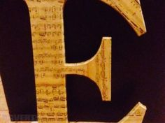 Upcycled Letter E Hitel Letter With Sheet Music Typography Interior Design Designer, Used Other Home Decor For Sale in Portarlington, Laois, Ireland for euros on Adverts. Letter E, Sheet Music, My Design, Typography, Interior Design, Projects, Home Decor, Upcycled Crafts, Letterpress