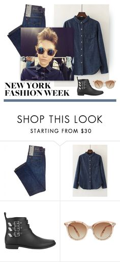 """""""Denim Darling"""" by patricia-dimmick on Polyvore featuring WithChic, Loeffler Randall, Victoria Beckham and NYFW"""