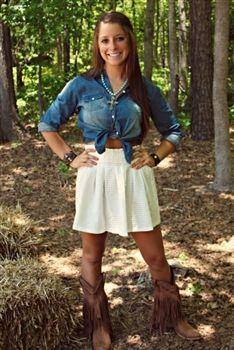 Always Classy Skirt - White $42.99 #SouthernFriedChics