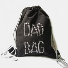 DAD BAG plecak worek dla taty Drawstring Backpack, Backpacks, Bags, Fashion, Handbags, Moda, La Mode, Drawstring Backpack Tutorial, Dime Bags