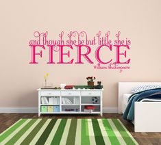 A personal favorite from my Etsy shop https://www.etsy.com/listing/158678799/baby-girl-nursery-wall-decal-and-though