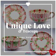 Tea Cups, Valentines, Happy, Velentine Day, Valentine's Day Diy, Valentine's Day, Valentine Craft, Happiness, Tea Cup
