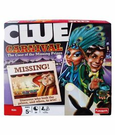 Amazon.com : Clue Carnival: The Case of the Missing Prizes : Board Games : Toys & Games