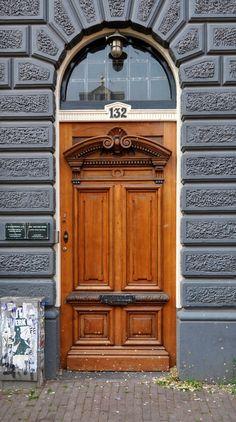 Wood #door in #Amsterdam, #Netherlands