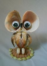 Beautiful Handmade Sea Shell Owl *Great Condition*