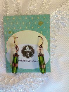 Hand blown glass earrings by Beadnbooty on Etsy, $22.00