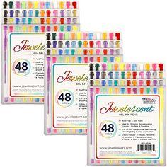 US Art Supply® Jewelescent® - 144 Pens 48 Color Gel Pen Set - Professional Artist Quality Gel Ink Pens in Vibrant Colors - Classic, Glitter, Metallic, Neon, Pastel & Swirl Colors - 100% Guarantee Us Art Supply http://www.amazon.com/dp/B017T9YUUA/ref=cm_sw_r_pi_dp_8ZIVwb0W5D80Z