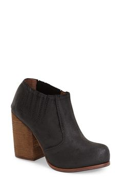 Free shipping and returns on Jeffrey Campbell 'Yorktown' Bootie (Women) at Nordstrom.com. A chunky wooden heel lends prominent elevation to an almond-toed bootie in distressed suede. Tonal goring at the topline ensures an impeccable fit.