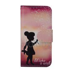Machen Sie einen Wunsch Magnetic Schlag-Standplatz TPU   PU-Leder Tasche für iPhone 5 / 5S