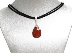 Natural Gemstone Red Jasper Teardrop HealingPendant Necklace Fengshui Chakra USA #Handmade #Pendant #Healing #Protection #GoodLuck #Semiprecious #Stone