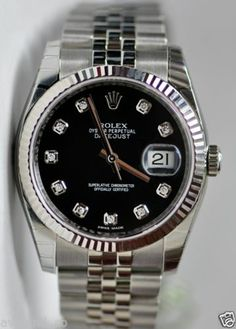 Mine!!!!! Rolex Datejust 36mm Steel Black Diamond Dial Jubilee New 2013 116234 845960035095 | eBay