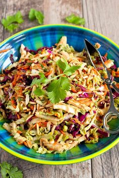 This Thai Chicken Salad recipe is always the star of the show whenever it's served at our table. This easy, healthy salad come together in 15 to 20 minutes.