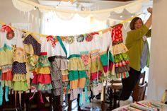 aprons-made at a craft weekend. What fun!
