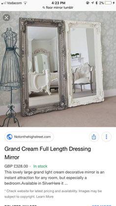 White Vintage Mirror, Handmade Dressers, Dressing Mirror, Have Metal, Oversized Mirror, Flooring, Room, Furniture, Things To Sell