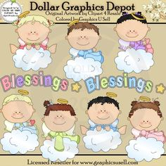 Baby Angel Blessings - Clip Art - $1.00 : Dollar Graphics Depot, Quality Graphics ~ Discount Prices