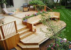 Beautiful Timber Decking Installed by Coombe And Sharpe. Professional Landscape Gardeners based in Workington, Cumbria.