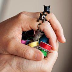 KopoMetal handmade cat ring