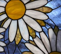 Daisy, Daisy, Give Me Your Answer True Stained Glass White Daisy Panel. $374.99, via Etsy.