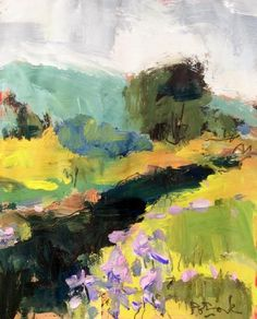 Landscape  painting of the Berkshires  11 x 14 inch painting