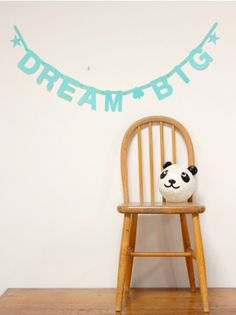 DIY Word Banner Turquoise, Dream Big!