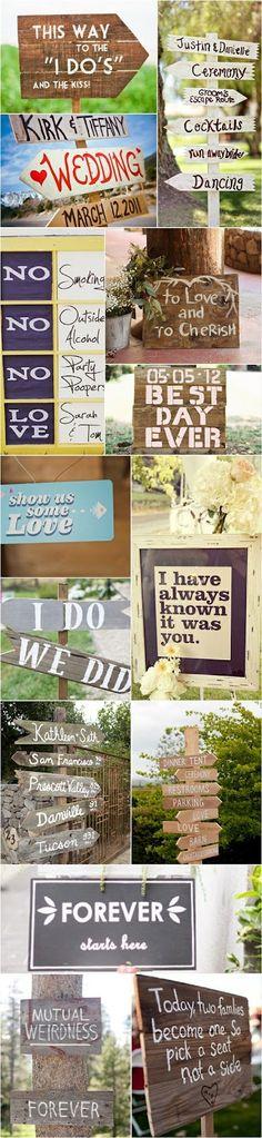wedding ideas signs