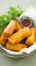 Yummy Spring roll recipe.. We added Prawn, Cabbage, Soya Sauce & Rice Wine ... Deeeelish!!  We also oven baked rather than deep fried them!! :)