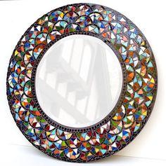 diy mosaic mirror above fireplace Mosaic Artwork, Mirror Mosaic, Mosaic Diy, Mosaic Crafts, Mosaic Projects, Diy Mirror, Mosaic Glass, Mosaic Tiles, Glass Art