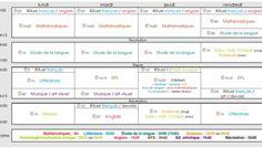 [Organisation] Emploi du temps CM1 CM2