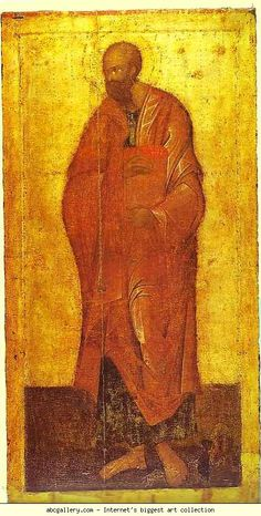 Free art print of St. Paul by Theophanes The Greek. Icon from the Deesis Range of the Iconostasis of the Annunciation Cathedral in the Moscow Kremlin, Moscow, Russia. Images Of Faith, Orthodox Prayers, Christ Pantocrator, Byzantine Art, Free Art Prints, John The Baptist, Icon Collection, Religious Icons