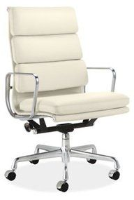 Eames Soft Pad Executive Chair - Pearl White — Best offer $1,499