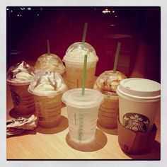 Starbucks!!!!!  This will be and my sister in law order, lmao