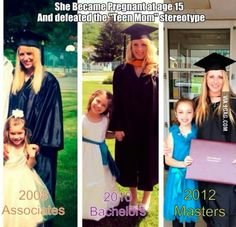 She became pregnant at age 15 and defeated the 'teen mom' stereotype. Faith In Humanity Restored, Teen Mom, Cute Stories, Picture Day, We Are The World, Quotes For Kids, Quotes Children, Raising Kids, Girl Power