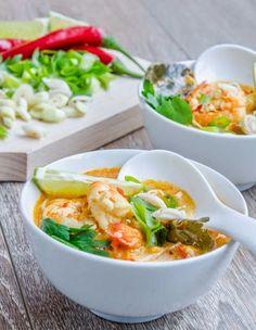 Supa de creveti cu curry rosu - Din secretele bucătăriei chinezești