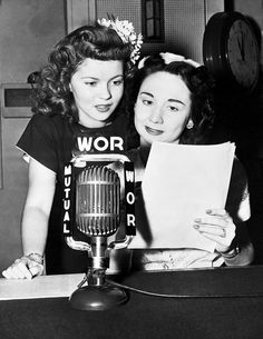 "thescrewballgirl: "" Shirley Temple and Dorothy Kilgallen """