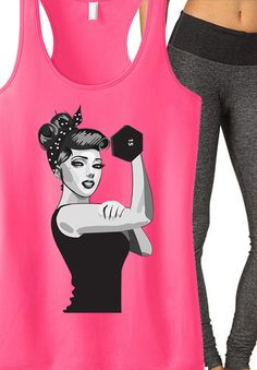 ROSIE the RIVETER workout tank by NoBull Woman. I like eclectic fun workout tanks! Workout Attire, Workout Wear, Workout Outfits, Mma, Rosie The Riveter, Strong Girls, Gym Shirts, Fitness Fashion, Fitness Outfits