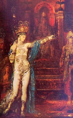 """""""Tattooed Salome,"""" c.1876 by Gustave Moreau.  this #review of #DSHperfumes is a #great #read and thorough introduction to #DSHperfumes. Thank you kafkaesqueblog.com!"""