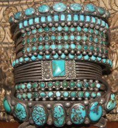 Antique Turquoise bracelets
