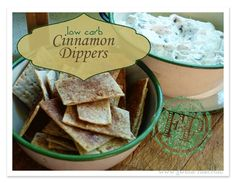 Use cookie dough dip link in the post! These low carb cinnamon dippers are perfect for enjoying my low carb cookie dough dip, or just for snacking. Trim Healthy Mama Plan, Trim Healthy Recipes, Low Carb Recipes, Low Carb Sweets, Low Carb Desserts, Healthy Sweets, Mama Recipe, Favorite Recipes, Cinnamon